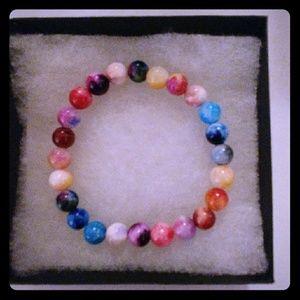Jewelry - Rainbow Multicolored Jade Stone Bracelet